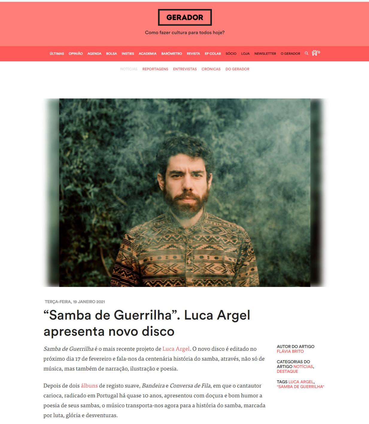 Samba de Guerrilha - Gerador
