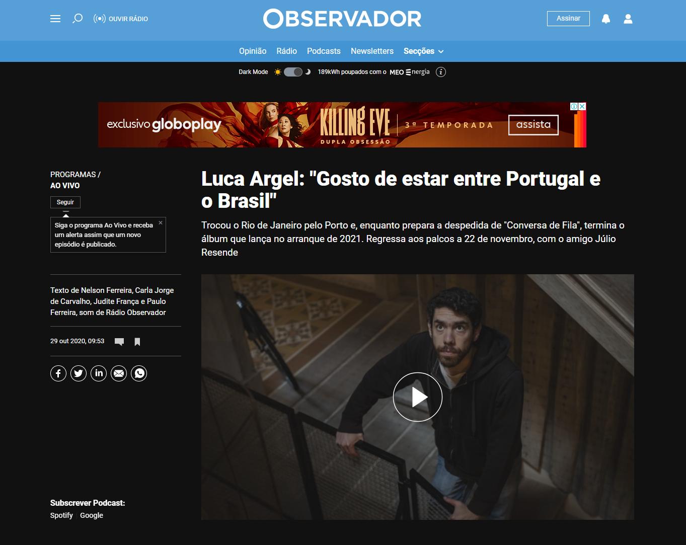 Luca Argel-Observador