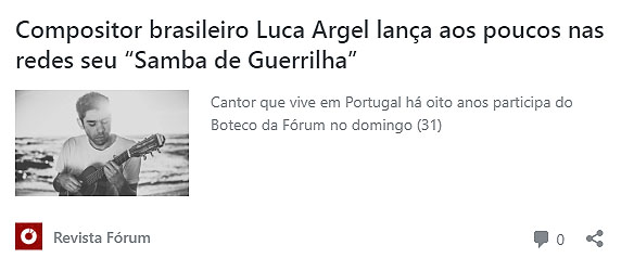 Luca Argel_Boteco da Forum