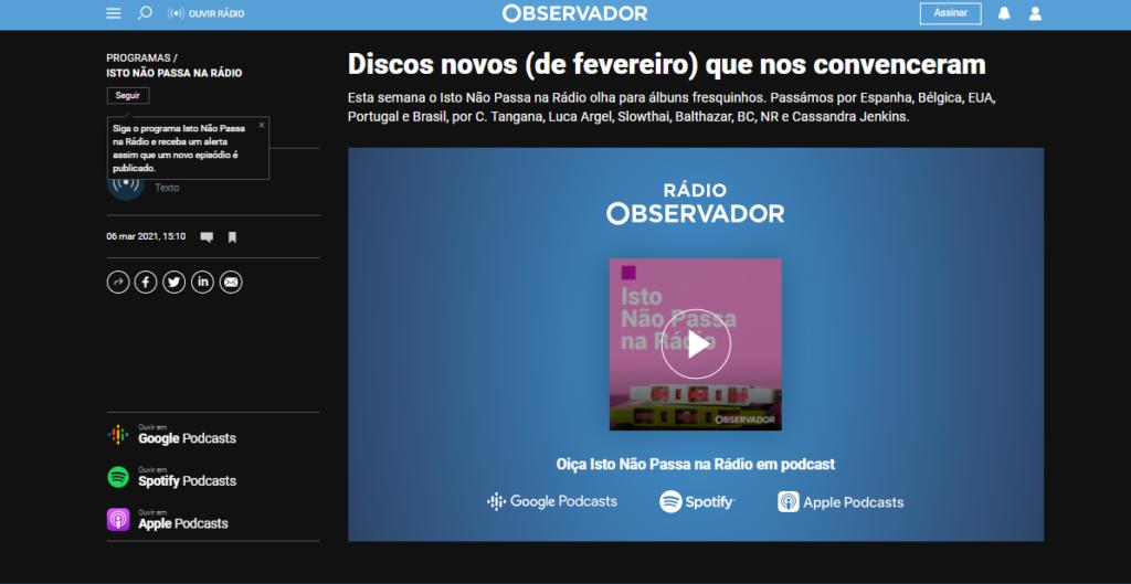 Samba de Guerrilha - Observador
